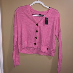 Abercrombie & Fitch pink cropped sweater size XS